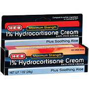 H-E-B Maximum Strength 1%  Hydrocortisone Cream With Aloe