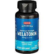 H-E-B Maximum Strength Melatonin 10 mg Capsules