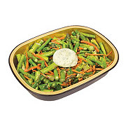 H-E-B Meal Simple Asparagus and Shredded Carrots with Garlic Herb Butter
