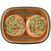 H-E-B Meal Simple Atlantic Salmon Pinwheels with Spinach Feta Stuffing