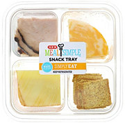 H-E-B Meal Simple Black Forest Ham and Cheese Sliced Snack Tray