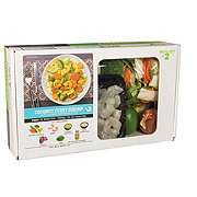 H-E-B Meal Simple Coconut Curry Shrimp with Sautéed Vegetables and Rice Meal Kit