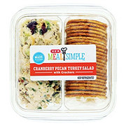 H-E-B Meal Simple Cranberry Pecan Turkey Salad and Wheat Crackers