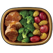 H-E-B Meal Simple Dijon Pork Tenderloin Medallions with Broccoli and Potatoes