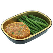 H-E-B Meal Simple Fiesta Salmon Burger with Green Beans