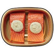 H-E-B Meal Simple Garlic Butter Atlantic Salmon Portions
