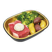 H-E-B Meal Simple Garlic Butter Choice Strip Steak with Broccoli and Potatoes