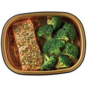 H-E-B Meal Simple Garlic Pesto Atlantic Salmon Portion with Broccoli