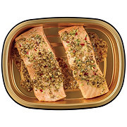 H-E-B Meal Simple Garlic Pesto Atlantic Salmon Portions