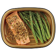H-E-B Meal Simple Garlic Pesto Atlantic Salmon with Asparagus