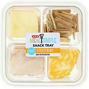H-E-B Meal Simple Mesquite Smoked Turkey and Cheese Sliced Snack Tray