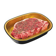 H-E-B Meal Simple Natural USDA Choice Beef New York Strip Steak with Salt and Pepper