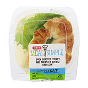 H-E-B Meal Simple Oven Roasted Turkey and Muenster Croissant Sandwich