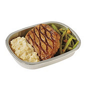 H-E-B Meal Simple Pork Chop, Green Beans Almondine, and Mashed Potatoes