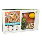 H-E-B Meal Simple Salmon Piccata with Orzo Pasta and Broccoli Meal Kit