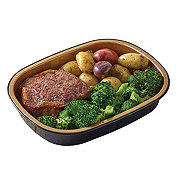 H-E-B Meal Simple Salt and Pepper Choice Strip Steak with Broccoli and Potatoes