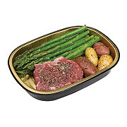 H-E-B Meal Simple Seasoned Beef Steak with Asparagus and Potatoes