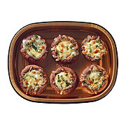 H-E-B Meal Simple Spinach Mozzarella Stuffed Mushroom Bites