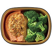 H-E-B Meal Simple Stuffed Atlantic Salmon Original with Broccoli