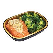 H-E-B Meal Simple Stuffed Atlantic Salmon Original with Broccoli