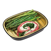 H-E-B Meal Simple Stuffed Beef Flank Steak with Asparagus