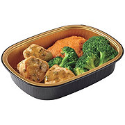 H-E-B Meal Simple Turkey Cutlet Meal with Turkey Gravy Butter, Mashed Sweet Potatoes and Broccoli