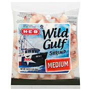 H-E-B Medium Raw Wild Gulf Shrimp, 41/60 ct