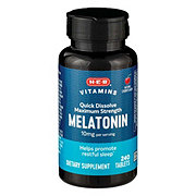 H-E-B Melatonin 10 mg Quick Dissolve Tablets