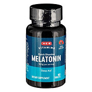 H-E-B Melatonin 5 mg Cherry Flavored Sublingual Tablets