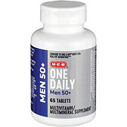 H-E-B Men's 50+ Advanced One Daily Multivitamin/Multimineral Tablets