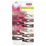 H-E-B Metal Hair Clips Assorted Colors