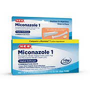 H-E-B Miconazole 1, 1-Day Treatment, Combination Pack