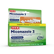 H-E-B Miconazole 3 Vaginal Antifungal Combination Pack