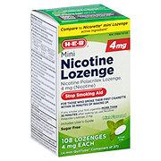 H-E-B Mini Nicotine Lozenge 4 mg Mint
