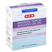 H-E-B Minoxidil 2% For Women Unscented