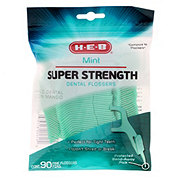 H-E-B Mint Super Strength Dental Flossers with Pick