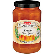 H-E-B More Fruit Peach Fruit Spread