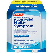 H-E-B Mucus Relief Cold Flu & Sore Throat Maximum Strength