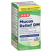 H-E-B Mucus Relief DM Cough And Expectorant Max Strength