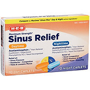 H-E-B Mucus Relief Sinus Day and Night Maximum Strength