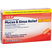 H-E-B Mucus Severe Sinus Severe Congestion Relief