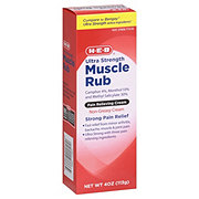 H-E-B Muscle Rub Ultra Strength Non-Greasy Pain Relieving Cream
