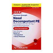 H-E-B Nasal Decongestant PE Tablets