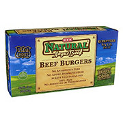 H-E-B Natural Angus 1/3 lb Beef Burgers, USDA Choice