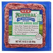 H-E-B Natural Angus Ground Beef 85% Lean