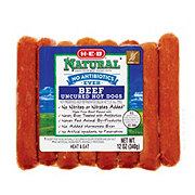 H-E-B Natural Beef Hot Dogs