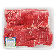 H-E-B Natural Beef Inside Skirt Steak Skinless Value Pack, USDA Choice, 2-3 steaks