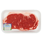H-E-B Natural Beef New York Strip Steak Boneless Thick USDA Choice
