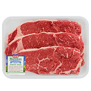 H-E-B Natural Beef New York Strip Steak Boneless Thin USDA Choice