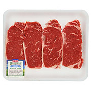 H-E-B Natural Beef New York Strip Steak Boneless Value Pack USDA Choice